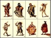 CARDS-SET B COMMEDIA DELL'ARTE NOTE CARD SET